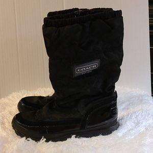 Coach black snow boots